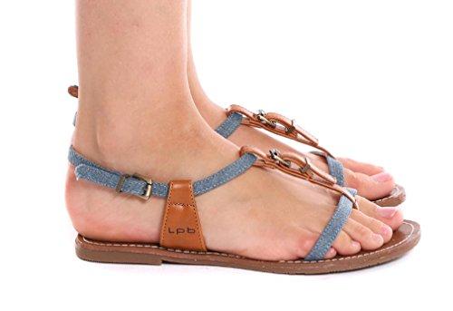 Les P'tites Bombes - Sandalias de Vestir de Material Sintético Mujer jean's