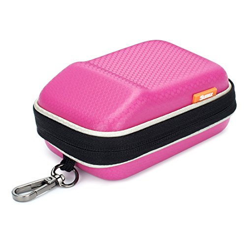 Pink Hard Shock Resistant Resistant Compact Digital Camera Case For CANON PowerShot SX730 SX720 SX620 HS G9 X Nikon COOLPIX W100 Panasonic Lumix DMC TZ80 TZ70 SONY Cyber-Shot HX90 OLYMPUS TOUGH TG-5