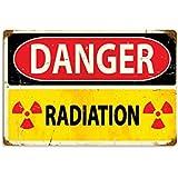 Danger Radiation Allied Military Vintage Metal Sign - Victory Vintage Signs