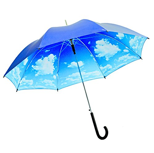 gorgeous-iridescent-navy-blue-sky-cloud-print-fashion-stick-umbrella