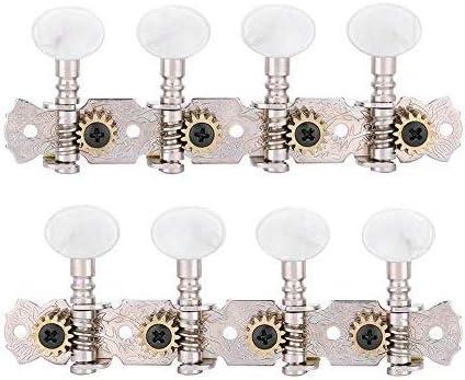 Alomejor Clavijas de Afinación 4L4R Accesorios para Botones de Afinación para Guitarra de Mandolina de 8 Cuerdas