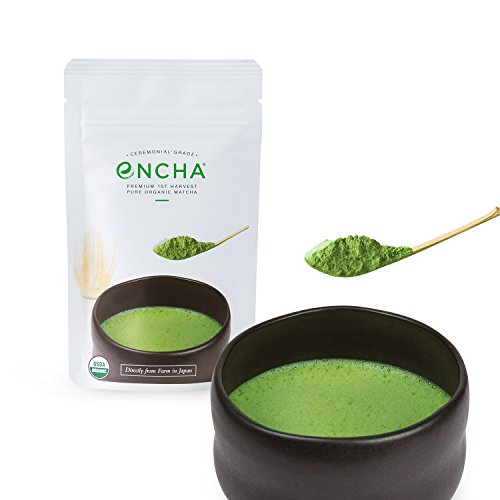 Encha Organic Matcha (Directly from the Farm in Japan: Ceremonial Grade from Premium 1st Harvest, Latte Grade from 1st Harvest, Culinary Grade from Premium 2nd Harvest)