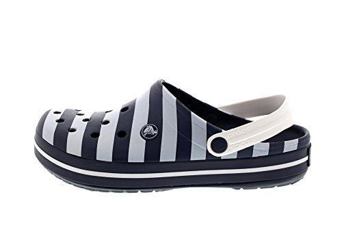Crocs Sabots - Crocband Graphic Clog - Navy White