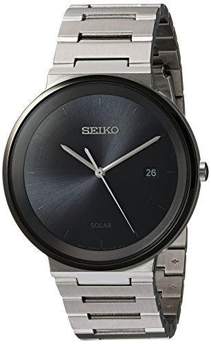 Seiko Mens Quartz Stainless Steel Dress Watch, Color:Silver-Toned (Model: SNE479)