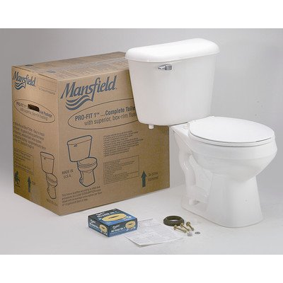 Mansfield Plumbing Products PRO-FIT 2 COMPLETE Mansfield Pro-Fit 2 Complete Elongated Toilet Kit - 581161