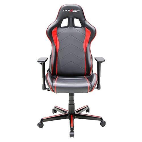 DXRacer OH/FH08/NR Formula Series Black and Red Gaming Chair – Includes 2 free cushions and Lifetime warranty on frame For Sale
