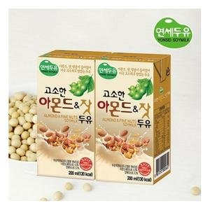 Yonsei Almond & Pine Nuts Soymilk; 16 packs; 1 pack, 200 ml(6.76 fl oz) - 연세우유 고소한 아몬드 & 잣 두유 by Yonsei University