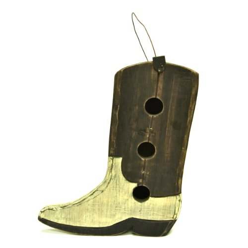 Folk Art Birdhouses - Large Folk Art Birdhouse - Cowboy Boot