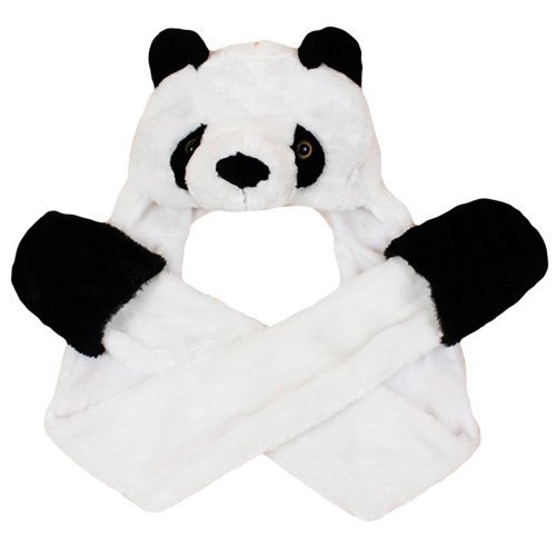 Amazon.com: Dazzling Toys Plush Panda Hat with Long Paws Multi-functional Novelty Hoodie Cap: Toys & Games