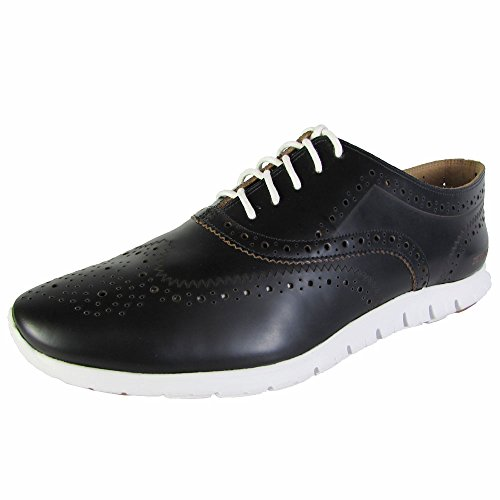 Cole Haan Zerogrand del extremo del ala Oxford Negro/natural/optic blanco