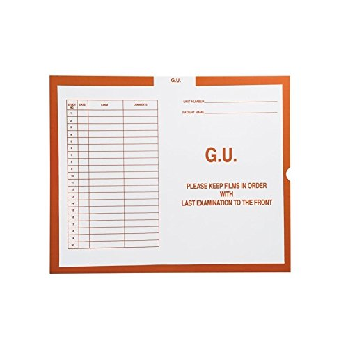 G.U. (Genito-Urinary), Orange #151 - Category Insert Jackets, System II, Open End - 14-1/4'' x 17-1/2'' (Carton of 250)