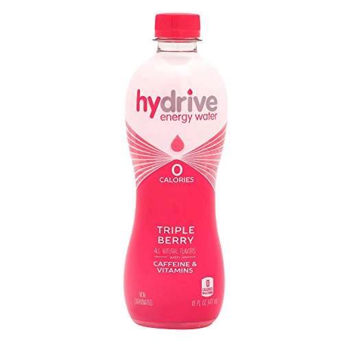 Hydrive Energy Water | Triple Berry | Sugar Free | Zero Calories | All Natural Flavors | Natural Energy | 16 oz (Pack of 12)