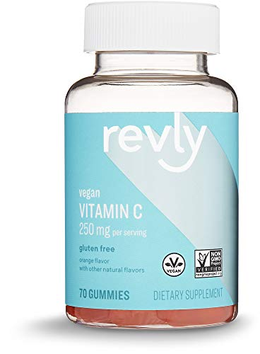 Cheap Amazon Brand – Revly Vitamin C 250mg, 70 Gummies, 35-Day Supply, Vegan, Non-GMO