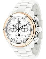 Glam Rock Women's GR50102 Aqua Rock Chronograph White Dial Ceramic Watch