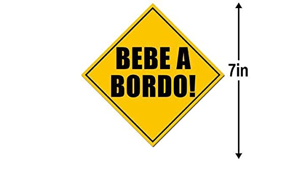 Amazon.com: American Vinyl Caution Sign BEBE A BORDO Sticker (Spanish baby hispanic board espanol): Automotive