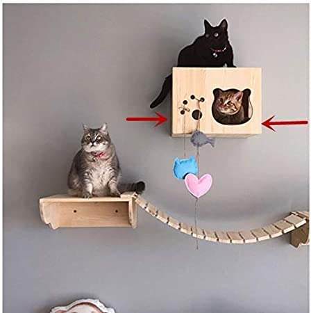 Cat shelf Cat hammock wall Cat wall furniture Cat house Cat cave Cat tree house Cat shelf wall Cat house condo Wooden cat furniture Cat bed
