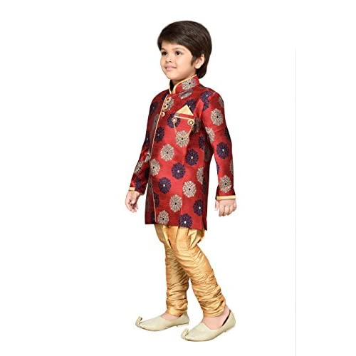 41RUU3Ksq L. SS500  - AJ Dezines Kids Festive Sherwani for Boys