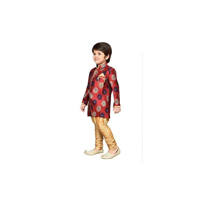 41RUU3Ksq L. SS768  - AJ Dezines Kids Festive Sherwani for Boys