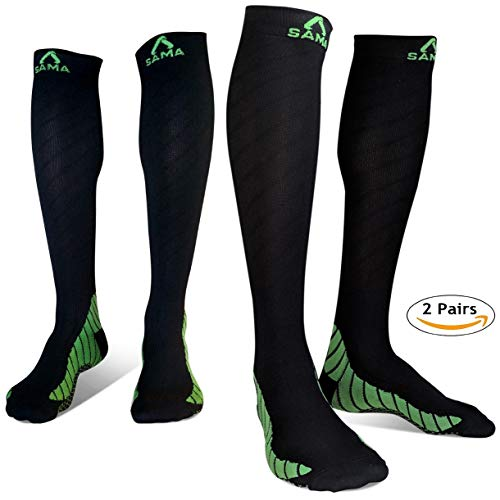 a1a958955cf5 2 Pairs Womens   Mens Compression Socks Men 20-30 mmhg best for flight  pregnancy