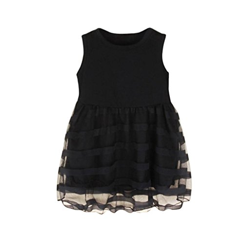 Price comparison product image Hot Sale! Baby Girls Dress,Canserin Toddler Kids Baby Girls Princess Party Pageant Wedding Tulle Tutu Flower Dresses (2/3T, Black)