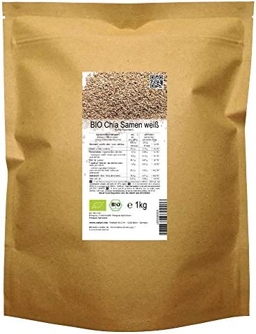 BIO las semillas blancas de Chía («Salvia hispanica»)  1kg: Amazon.es: Alimentación y bebidas