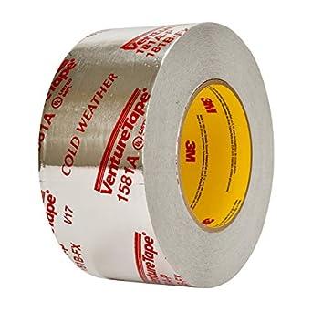 3m Venture Tape Ul181a P Aluminum Foil Tape 1581a Silver 2 1 2 In X 60 Yd 2 Mil 20 Rolls Per Case Amazon Ca Tools Home Improvement