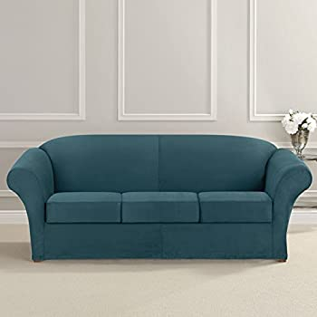 Amazon Com Sure Fit Ultimate Stretch Leather Sofa