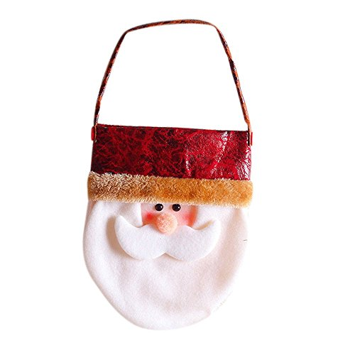 MONOMONO-Christmas Gift Bag Candy Handbag Merry Xmas Santa Claus Decor Party Home Decor - Malls Ny Buffalo