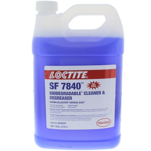 Degreaser 1 Gallon Bottle - Loctite 2046047 SF 7840 Natural Blue Biodegradable Cleaner and Degreaser, 1 gal Bottle