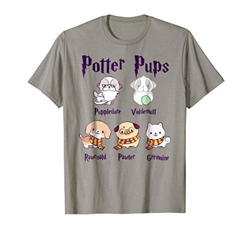 Harry Pawter Cute Puppy Dogs Potter Pups T Shirt -