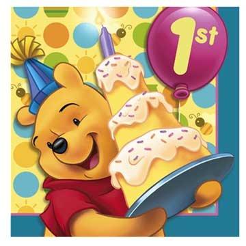 UPC 726528232920, Pooh's 1st Birthday Lunch Napkins 16ct