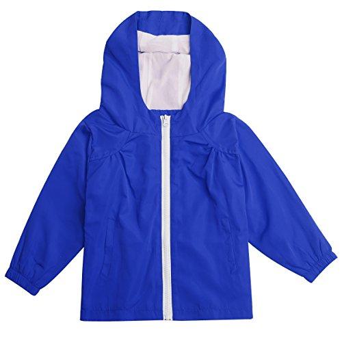 STIME Childrens Boys Girls Waterproof Raincoat Jacket with Hooded