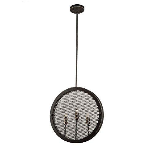 Riverside Ceiling Fan (Artcraft Lighting Artcraft AC10831GB Riverside 3-Light Pendant, Granite Black & Vintage Brass 3, Granite Black and Vintage Brass)