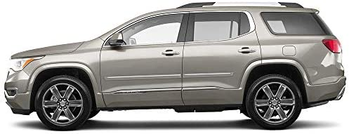 Painted w//Chrome Insert Body Side Moulding for Chevrolet Traverse Sport Utility
