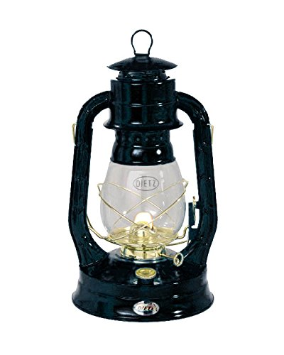 Dietz #8 Air Pilot Brass Trim Oil Lantern Black