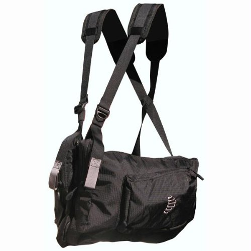 Ribz Front Pack (Black, Small/Medium), Outdoor Stuffs