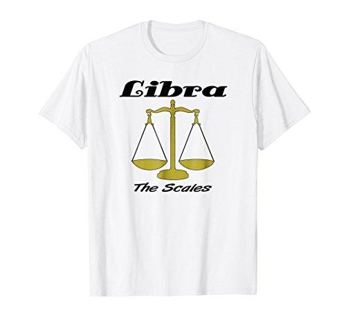 Zodiac Libra Scales (Libra The Scales Zodiac Birth Month T-Shirt)