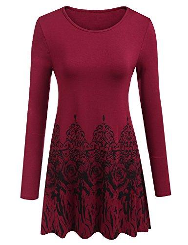 Pleated Long Sleeved Dress - 1