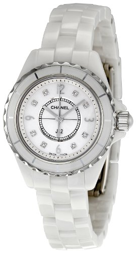 Chanel Women's H2570 J12 Diamond Dial Watch (Chanel J12 White Ceramic Watch)