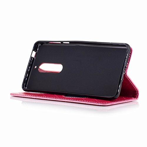 Yiizy Nokia 5 Funda, Amar Diseño Solapa Flip Billetera Carcasa Tapa Estuches Premium PU Cuero Cover Cáscara Bumper Protector Slim Piel Shell Case Stand Ranura para Tarjetas Estilo (de rosa)