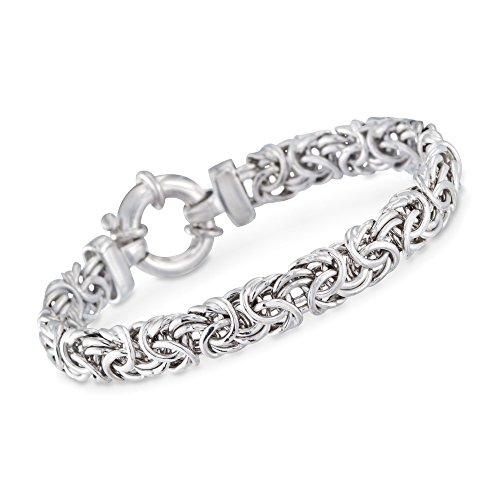 RossSimons Italian Sterling Silver Medium Byzantine Bracelet