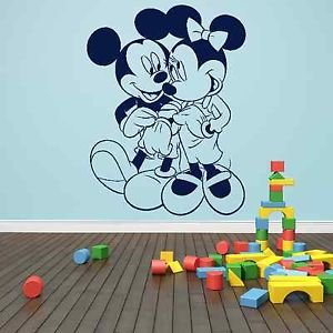 Iconic Stickers - Mickey Minnie Mouse Love Wall Sticker Design Mural ...