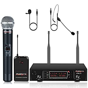 Phenyx Pro UHF Wireless Microphone System, Co...