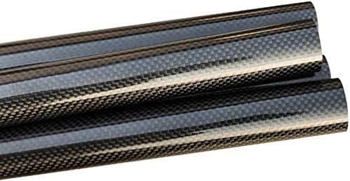 Diametro Interno 50mm Wzqwzj ad Alta Resistenza in Fibra di Carbonio 3K Rotonda Tubo per Elicottero 500mm Diametro Esterno 53 Millimetri 51 Millimetri,50mm