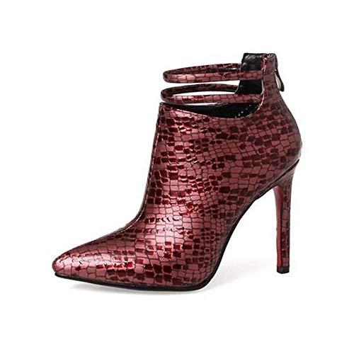 Caen Poliuretano De QOIQNLSN Cerrado Negro Zapatos Stiletto Tacones Red Básica PU Talón Mujer Toe Rojo Bomba Comfort r1IqX5q