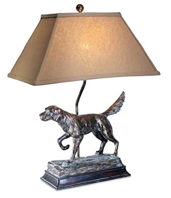 "HUNTING DOG LAMP 28""""H ANTIQUE BRONZE/GRECIAN BRONZE ..."