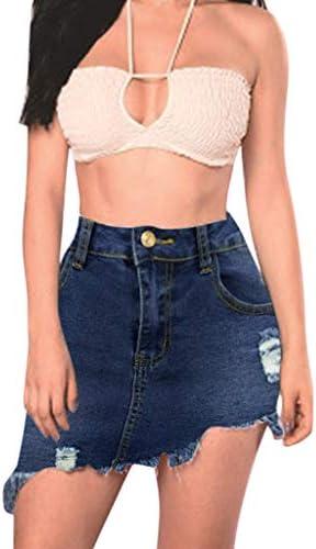 Sylar Falda Vaquera Mujer Falda De Mezclilla Cintura Alta Faldas ...