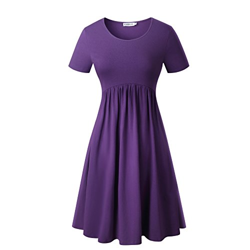 Purple Cotton Dress - 6