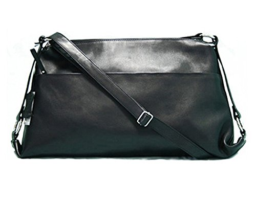 Baccini Cross-body Sling Bag Lucia Black - Shoulder Bag Genuine Leather 31410017