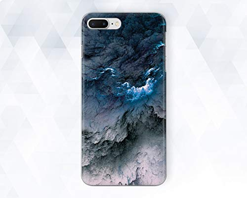 (Blue Grey Clouds Sky Marble Phone Case For iPhone 6 6s Plus 7 8 Plus Xs Max XR 10 Case Cover For Samsung Galaxy Note 8 9 S6 S7 S8 S9 Edge Plus)